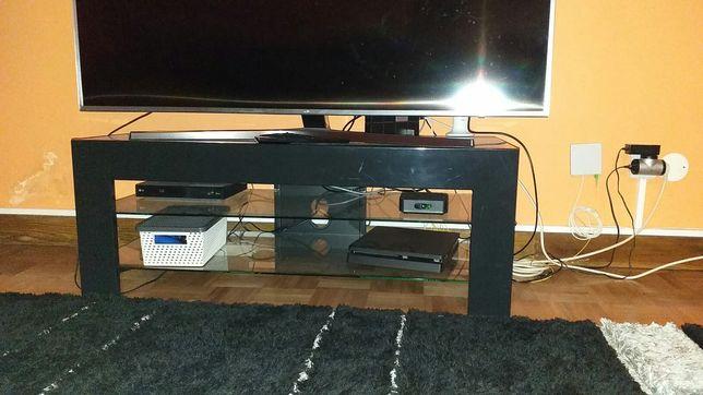 Mesa para Tv em madeira e vidro