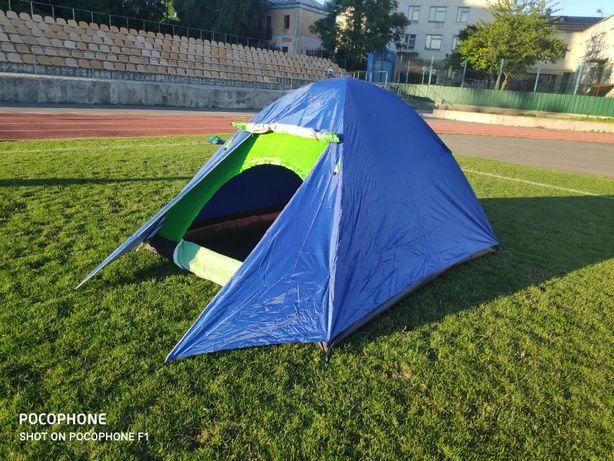 палатка/намет 5-6 местная двухслойная туристическая с тамбуром