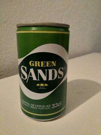 Lata de coleção da marca Green Sands, de 1987