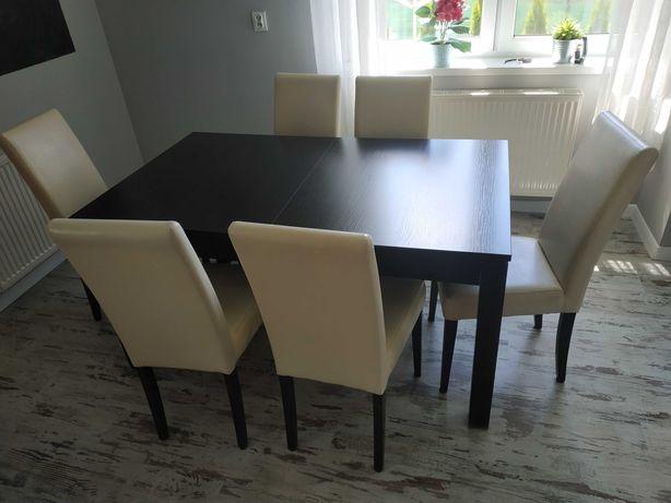 Stół do jadalni. Krzesła. Komplet.