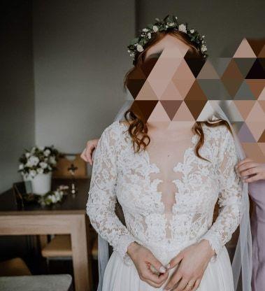 Suknia ślubna w stylu rustykalnym/boho