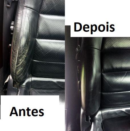 50ml Tinta preta tingimento / reparação couro estofos automóvel sofá