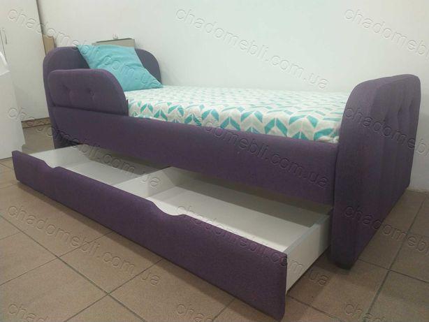 Ліжко м`яке для хлопчика для дівчини з ящиком\ кровать мягкая ламели