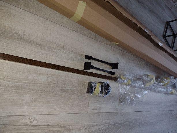 nowy karnisz loft czarny 160 cm