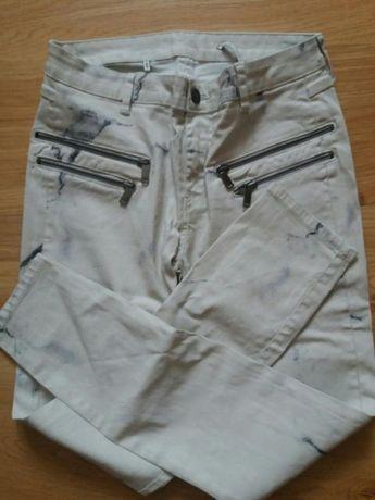 ZARA spodnie jeansy rurki Slim fit marmur