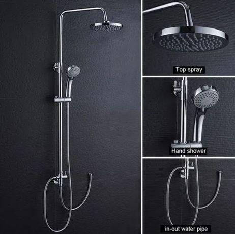 OUTLET - Deszczownica ZESTAW prysznicowy okrągły CHROM połysk
