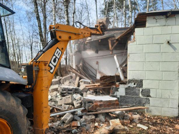 Rozbiórki budynków,  wyburzenia,  wywóz gruzu, koparka z młotem  !!!