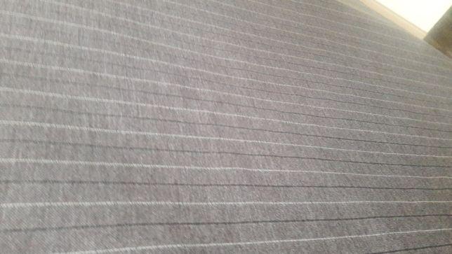 Tkanina prążki szaro-brązowa odzieżowa ,materiał dzianina 160x380