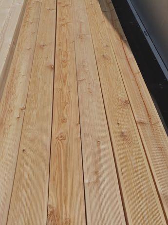 Deska tarasowa 28x145 Modrzew syberyjski kl.C długość 4,00 m