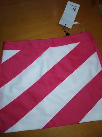 Spódniczka mini różowo biała