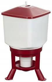 Poidło automatyczne dla drobiu, duże, 30 l, biało czerwone TYTAN