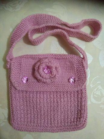 Детская вязаная сумочка
