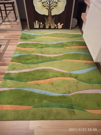 Dywan zielony 140x200 gruby