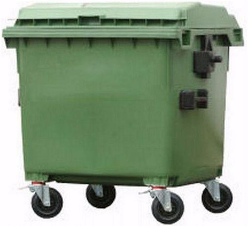 Contentor do lixo 800 litros em polietileno de alta densidade c/ tampa