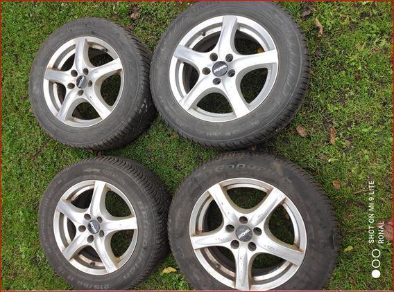 felgi Ronal +opony zimowe R16 215/60 Uniroyal bieżnik >6mm, Ford Volvo