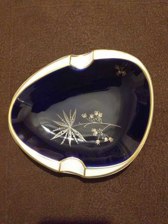 Popielnica kobaltowa Astor oryginalna porcelana Weimar
