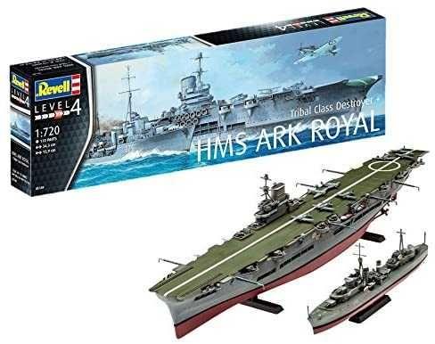 Revell 05149 HMS Ark Royal & Tribal Class Destroyer Skala: 1:720