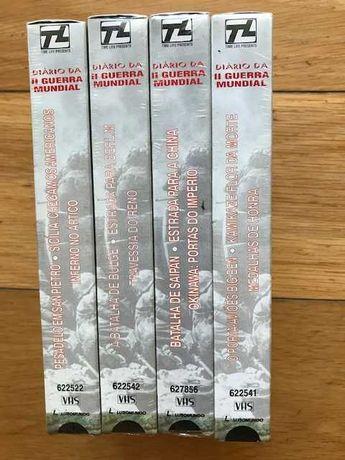 """""""Diário da II Grande Guerra Mundial"""" (Cassetes VHS)/com portes"""