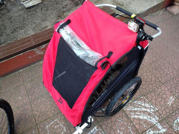 Wózek rowerowy do roweru przyczepka dla dzieci dziecka burley riksza