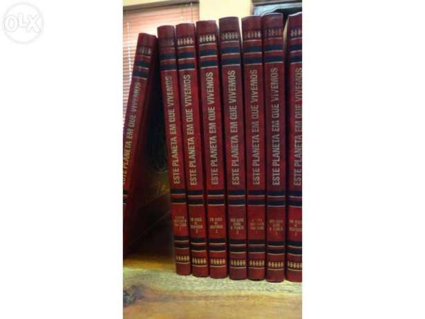 """Enciclopédia Vintage """" Este Planeta em que vivemos"""",com 8 volumes"""