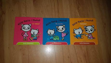 Kicia kocia i nunuś 3 książeczki