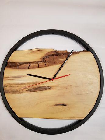 Zegar ścienny rustykalny,loft,czarny mat