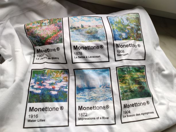 T-shirt Monet monettone tshirt biała koszulka blog vinatge
