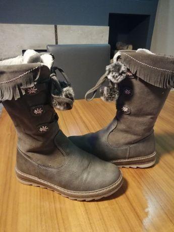 Buty dziewczęce zimowe rozm. 33