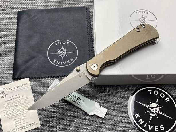 Нож TOOR Knives Merchant FL35S - Bronze Ti Framelock S35VN