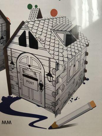 Домик разукрашка палатка для детей конструктор игровой набор