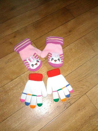 Варежки рукавицы перчатки подойдут 3-6 лет Две пары за 60 грн