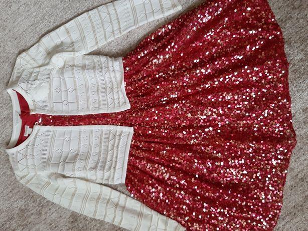 Нарядное в паетках платье с балеро на выпускной свадьбу день рождение