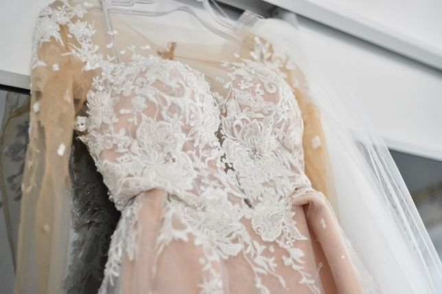 Suknia ślubna Ladianto,Irene, kolor Caffe Latte r.36/38 + welon GRATIS