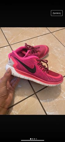 Buty różowe Nike free run 5.0 wkładka 23,5 cm 37 36, 36