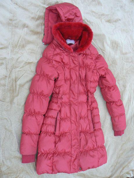 куртка женская красная пуховик курточка