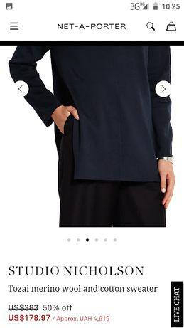 $383 Studio Nicholson свитер xs s Sander Etro Maje Brunello Proenza