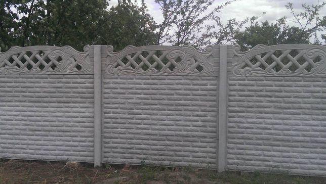 установка бетонного забора цена винница