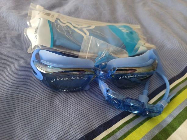 Плавательные очки шапочкой