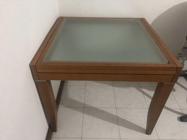 Vendo Mesa De Vidro Extensível