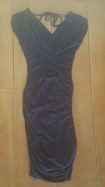 Piękna granatowa sukienka Orsay