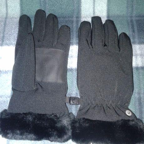 Перчатки женские фирмы HEAD оригинал р.S лыжные повседневные рукавички