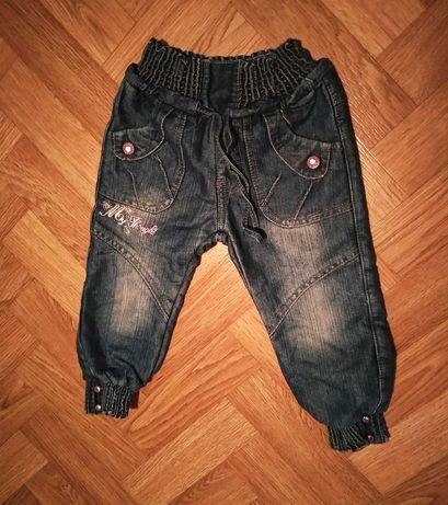 Теплые джинсы для девочки