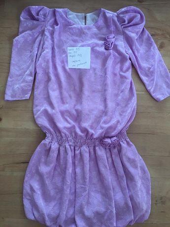 Sukienka lawendowa fiolet retro moze byc ciazowa