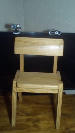 Детский до 6 лет деревянный стульчик ручной работы