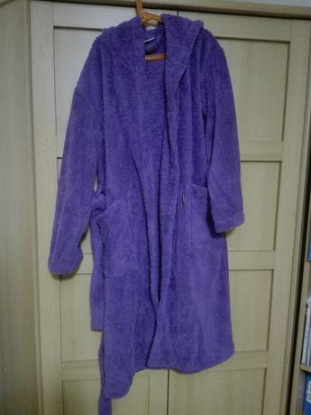 Cotton Towel mięciutki dziecięcy szlafrok fioletowy r. 146