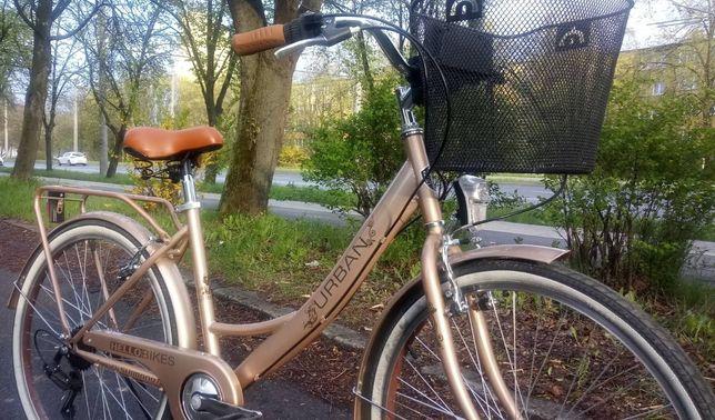 """Stylowy rower miejski w pięknym złotym kolorze. Koła 26"""""""