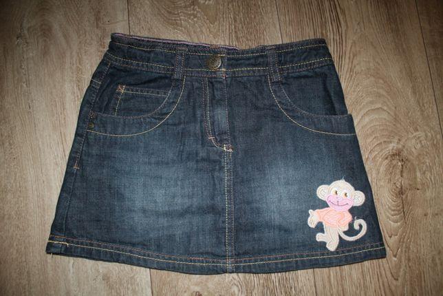 Юбка джинсовая крутая 5-7лет рост 110-120см