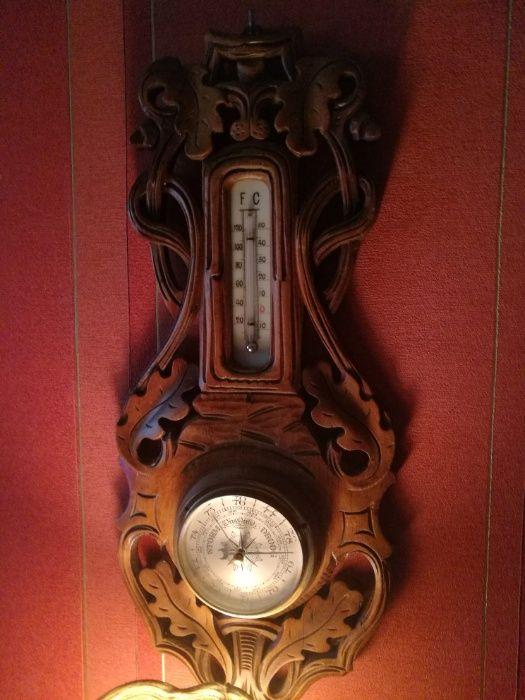 Antyk,stary barometr,lite drewno-rzeźba- Tanio. Gniezno - image 1