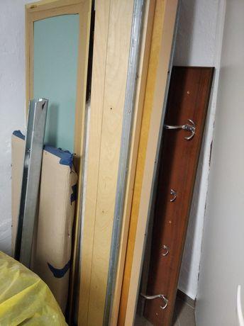 Rama łóżka Ikea Malm brzoza stelaż