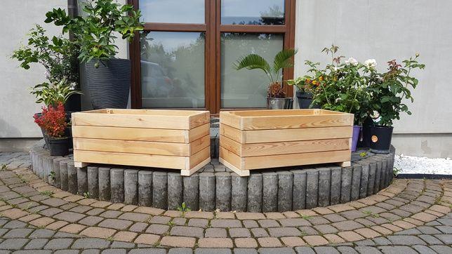 Doniczki donice skrzynia  drewniane 80 zł szt.